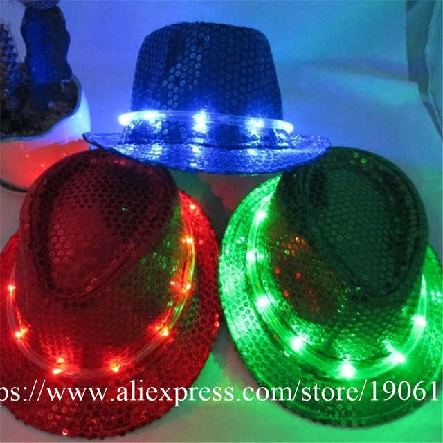 Fashion Led Luminous Halloween Hat Light Up LED Flashing Party Gift  Christmas Event Supplies DJ Club 2208c14297f6
