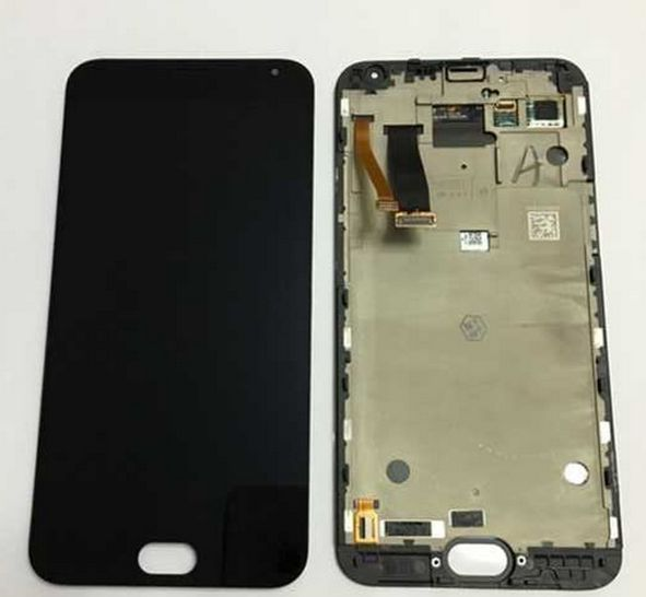 5.5 Black color Meizu MX5 Lcd Display+Touch Glass Screen Digitizer +frame Assembly Repair parts free shipping