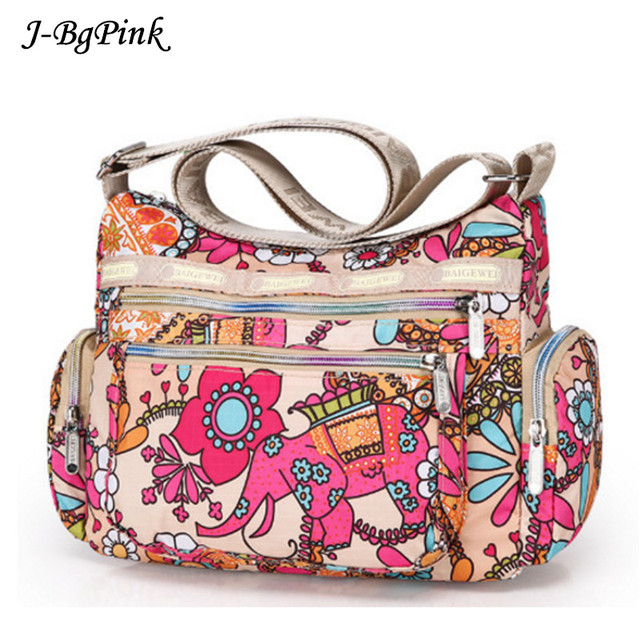Aliexpress.com : Buy Nylon Crossbad Bag 2017Women Summer Floral ...