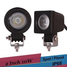 10 Вт 2 дюймов светодиодный автомобиля обратный прожектор для Jeep 4×4 внедорожных пикап ван ATV внедорожник utv вождения лампы светодиодные противотуманные фары