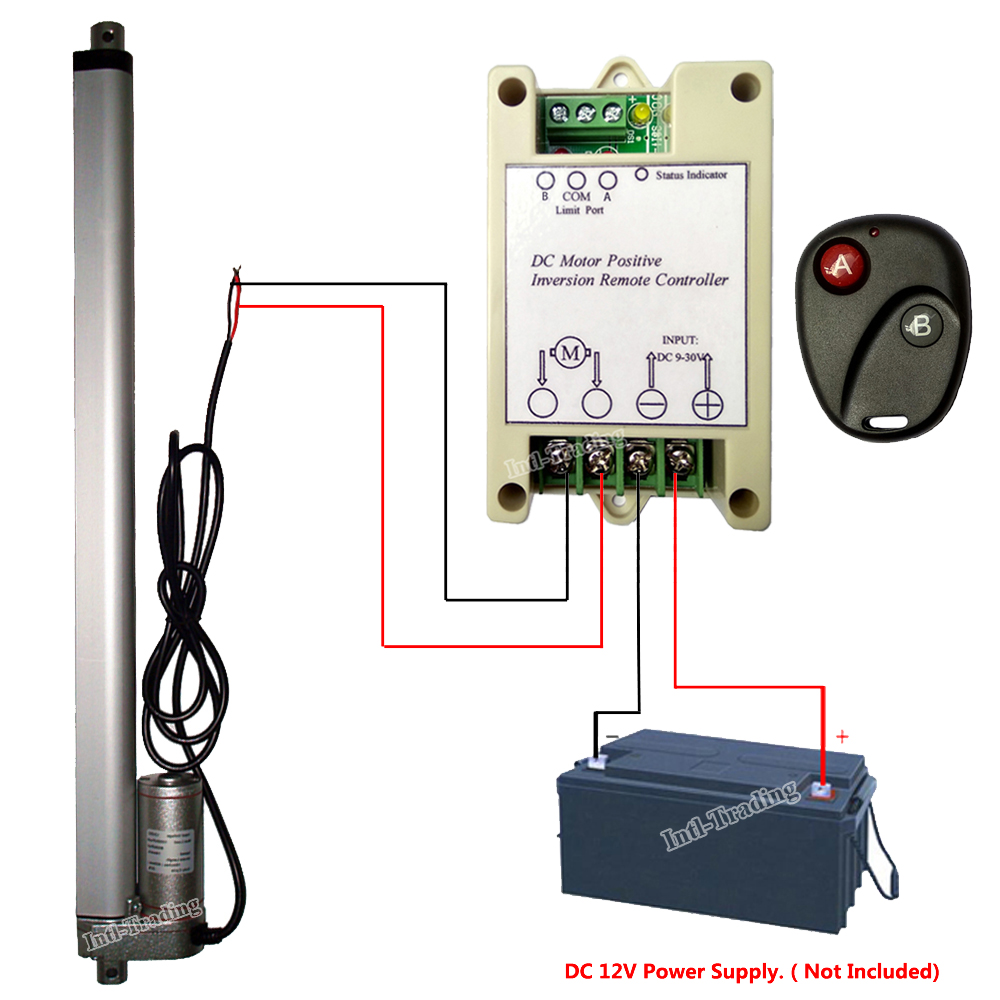 Bundle kits 400mm 16 stroke linear actuator 220lbs100kg for Industrial dc motor controller