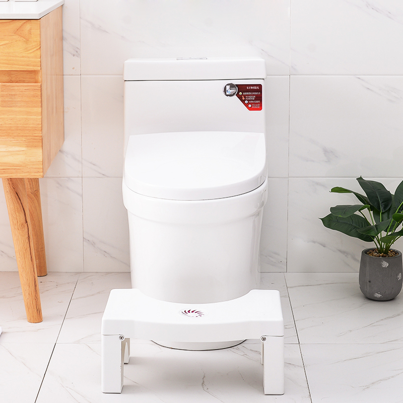 Image 3 - Home Folding Squatting Stool Bathroom Squat Toilet Stool Compact Squatty Potty Stool Portable Step Seat for Home Bathroom Toilet-in Bathroom Chairs & Stools from Furniture