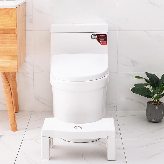Home Folding Squatting Stool Bathroom Squat Toilet Stool Compact Squatty Potty Stool Portable Step Seat for Home Bathroom Toilet 2