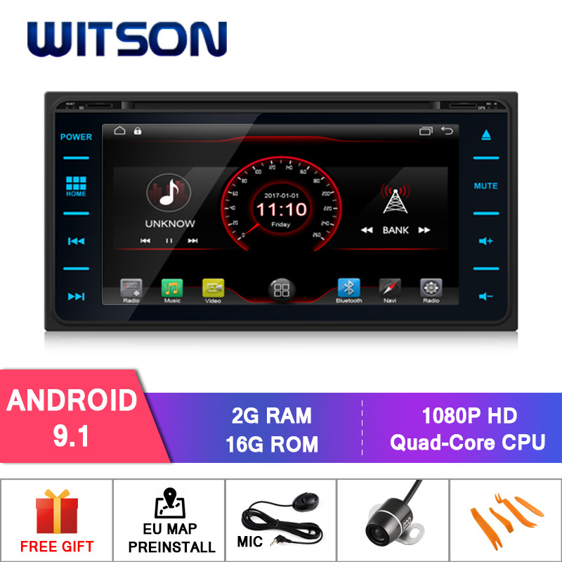 WITSON Android 9.1 audio system with gps for TOYOTA COROLLA/HILUX/AVANZA/RunX mirror link/DAB/OBD/TPMS/DVR/Wifi/3G/4G support