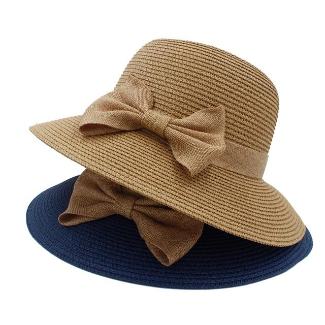 Moda Estilo Vintage Linen bowknot Chapéus de Palha do verão das Mulheres Da  Igreja Kentucky Derby 0096b5b1792