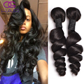 Grade 8a Brazilian Loose Wave hair 4 Bundles Loose Deep Wave Brazilian Hair for Sale Loose Curly Virgin Hair Human Hair Crochet