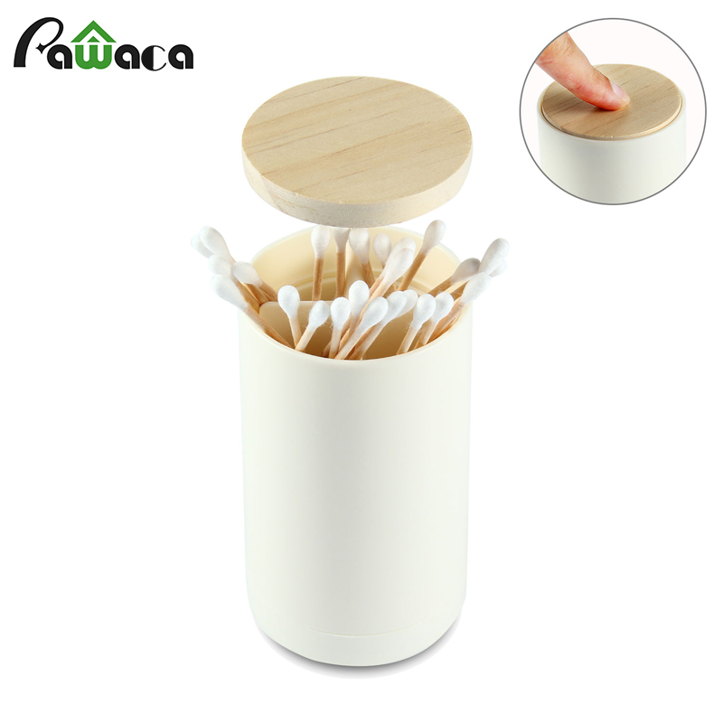 Automatic Pop-up Cotton Swab Holder Toothpick Holder Dispenser Case Storage Organizer Box Home Restaurant Hotel Table Decoration