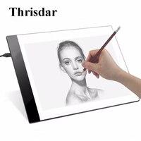Thrisdar A4 Digital Copy Tablet Light LED Writing Painting Light Box 3 5mm Ultra Thin Tracing