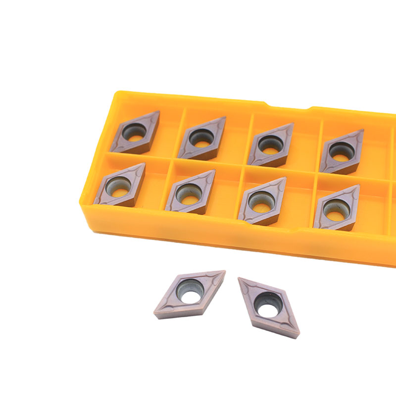 10PCS DCMT11T304 DCMT32.51 VP15TF  External Turning Tools Carbide Insert Lathe Cutter Tool Tokarnyy Turning Insert