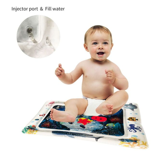 Children's Inflatable Water Cushion Pad Star Round Shape Water Play Mat Tummy Activity Center for Kids Baby Playing 2