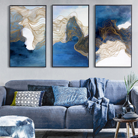 Fashion Landscape Canvas Painting 3 Panels Traditional Art Scenery Picture Chinese Painting Art Canvas Wall Pictures