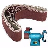10pcs Aluminium Oxide Sanding Belts 60 120 150 240 Grit Mayitr Sander File Long Lasting Abrasive