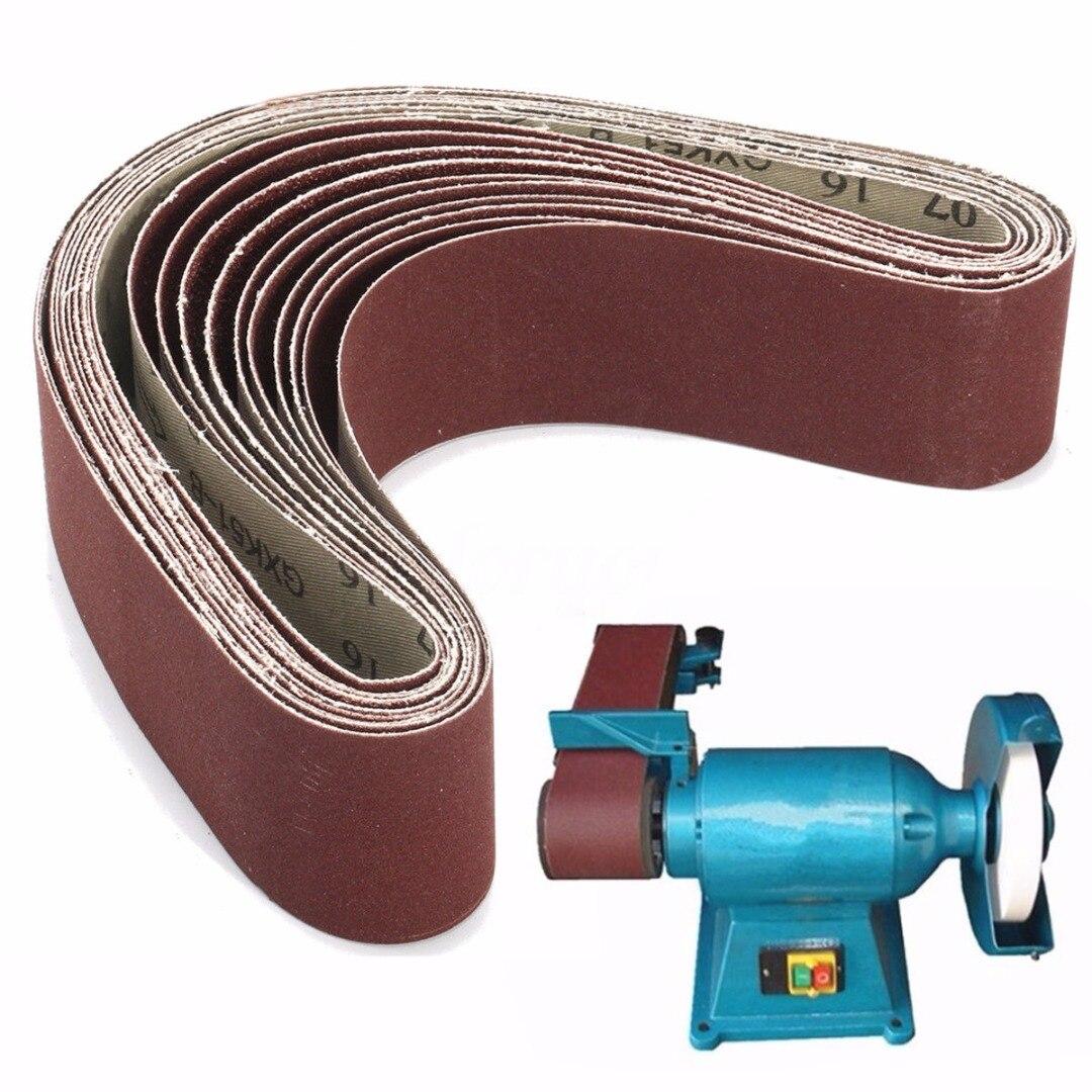 10pcs Aluminium Oxide Sanding Belts 60/120/150/240 Grit Mayitr Sander File Long Lasting Abrasive Polishing Accessories 50*686mm