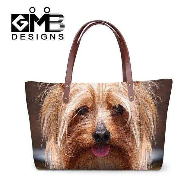3bd45b591 Moda Dog 3D Padrão de Armazenamento Bolsa para Senhoras, Meninas  Adolescentes sacos de Mão,