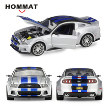 HOMMAT Simulation Maisto 1:24 Scale 2014 Ford Mustang Street Racer Alloy Model Car Diecast Toy Vehicles Car Model Collectible