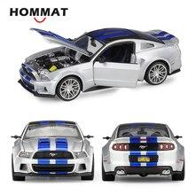 Hommat simulação maisto 1:24 escala 2014 ford mustang street racer liga modelo carro diecast veículos de brinquedo modelo de carro collectible