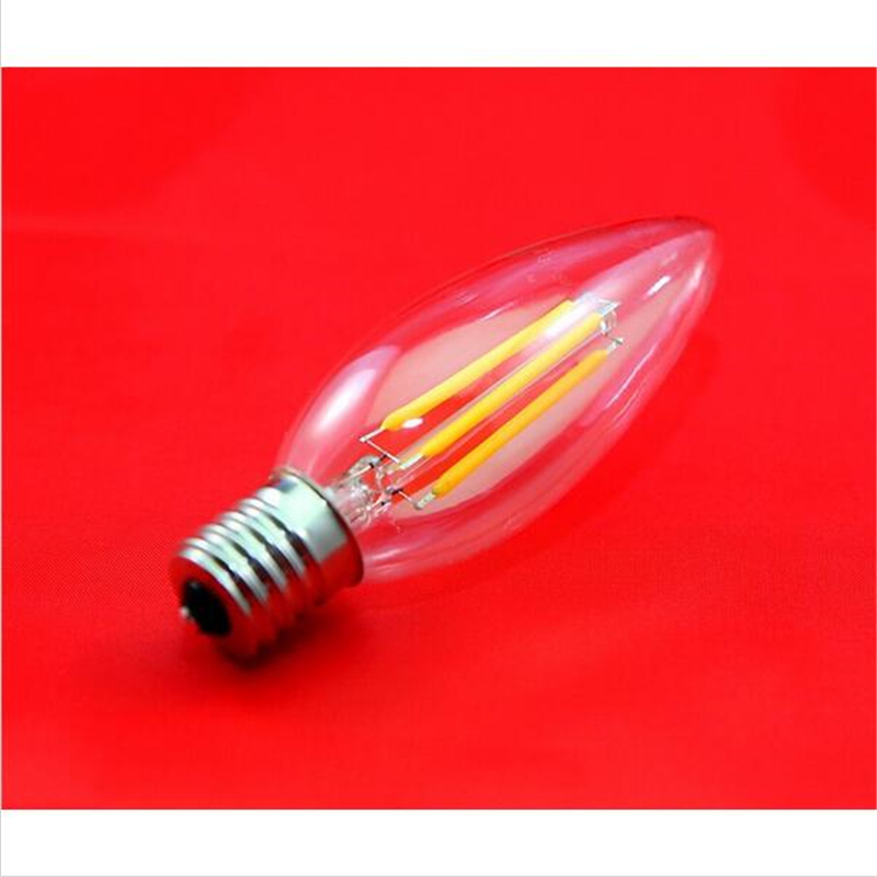 10pcs/lot E17 4W COB LED filament candle light 2W 4W LED ...