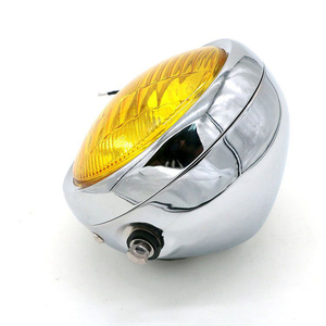 Image 3 - DC 12V Motorcycle Refit Headlight Vintage Round Motorcycle Head Light Scooter Motorbike Motor Front Headlights Lamp Universal