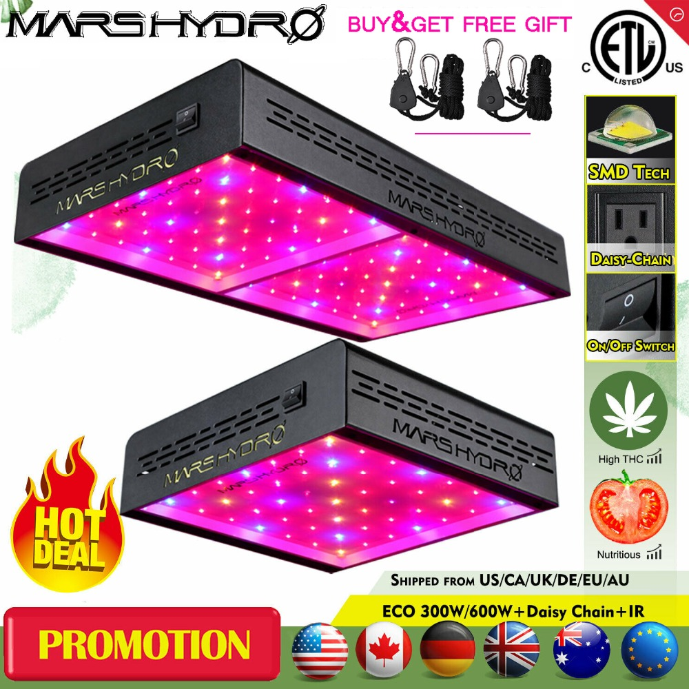 Mars ECO 600W LED Grow Light Lamp Hydroponics Indoor Garden