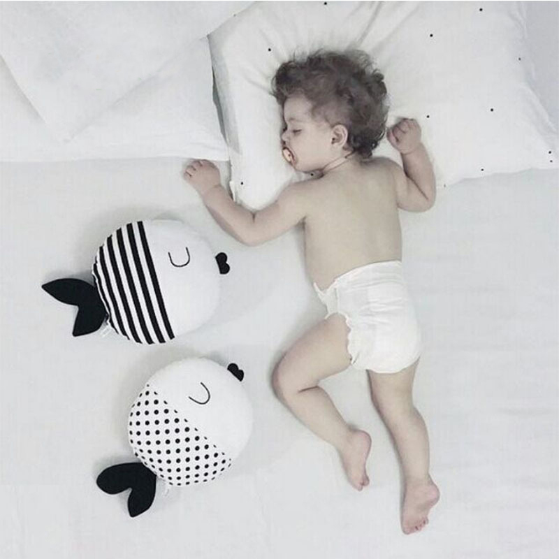 Baby Pillows Fish Shaped Baby Comfort For Newborns Baby Room Decor Nursing Pillow For Feeding Baby Cushion Plush Toys