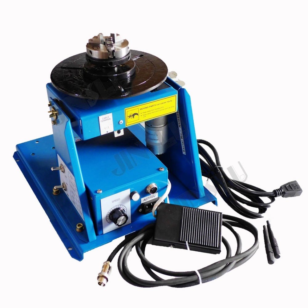 220V BY-10 Mini Welding Positioner Rotator Welder Turntable With Lathe Chuck 3 Jaw K01-63