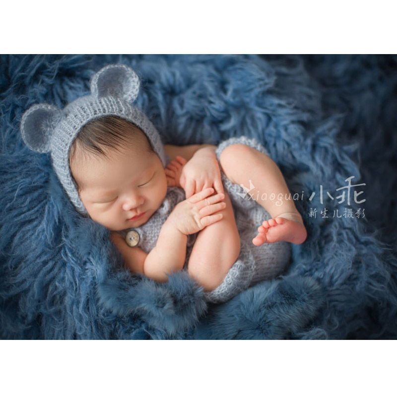 Baby Bear Bonnet with Pants Clothing Set Photography Props Mohair Baby Overalls Cute Cap Beanies Fotografia Mohair Romper Props fcl 935 electric strikes lock holding force 1800kg wide designed only for frameless glass doors power on to lock