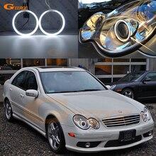 Для Mercedes Benz C-CLASS W203 C230 C240 C320 C55 C30 2001-2007 ксеноновые фары отличные ультра яркие CCFL ангельские глазки комплект