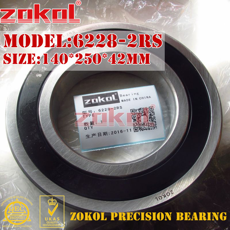 ZOKOL 6228RS bearing 6228 2RS 180228 6228-2RS Groove ball bearing 140*250*42mmZOKOL 6228RS bearing 6228 2RS 180228 6228-2RS Groove ball bearing 140*250*42mm