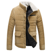 Winter Warm Thicker Men's Casual New 2016 Cotton-Padded Casual Thicken Outerwear Male Warm Down Jacket Coat Parkas Men