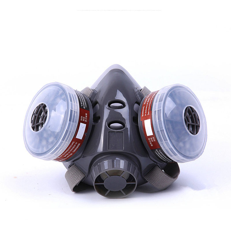 Half Face Gas Masks Protective Respirator Painting Dust Mask Spraying Mask Anti Second Smoke&Formaldehyde Pesticides 8010D skull style half face mask old silvery