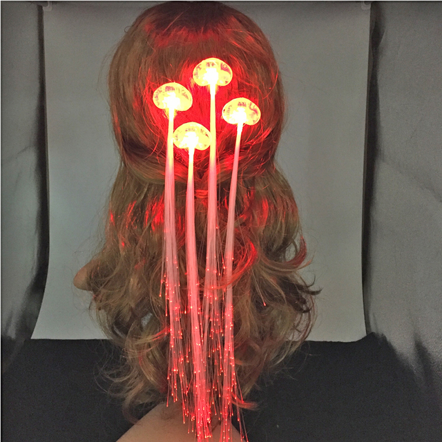 Free Shipping 30pcslot Led Braid Hair Clip Novelty Hair Extension