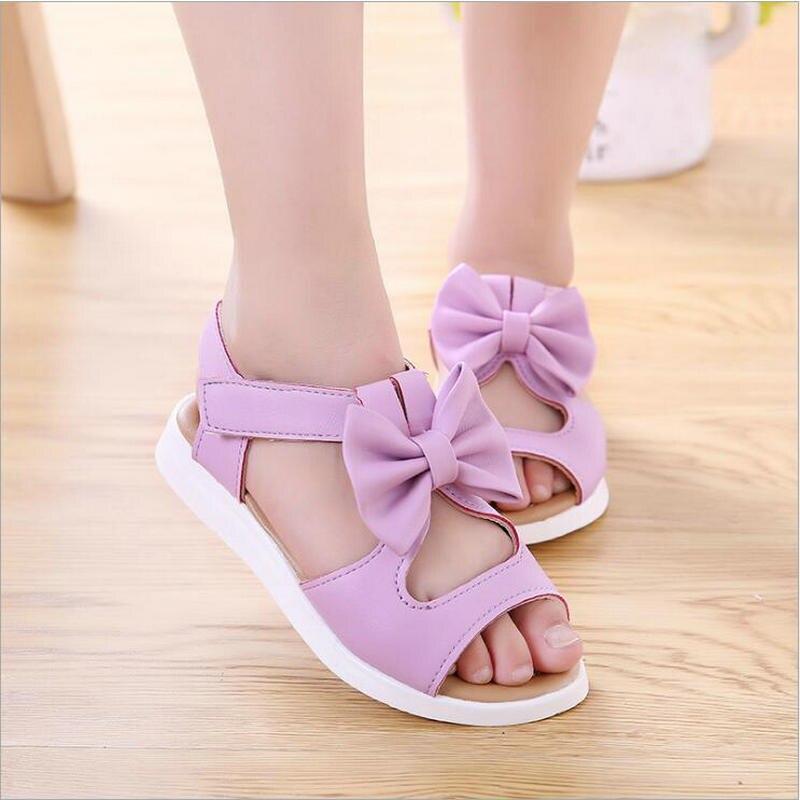 764554d1 3 цвета модная детская обувь летние новые детские большие босоножки для  девочек Туфли на низком каблуке