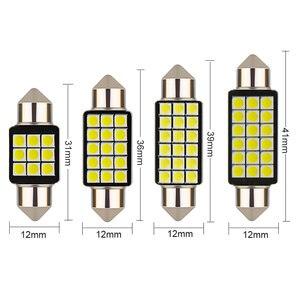Image 4 - 1 個車のフェストゥーンライト C5W 31/36/39/41 ミリメートル 3030 SMD Canbus エラーフリーのインテリア読書ライトドーム電球自動プレートランプホワイト 12 V