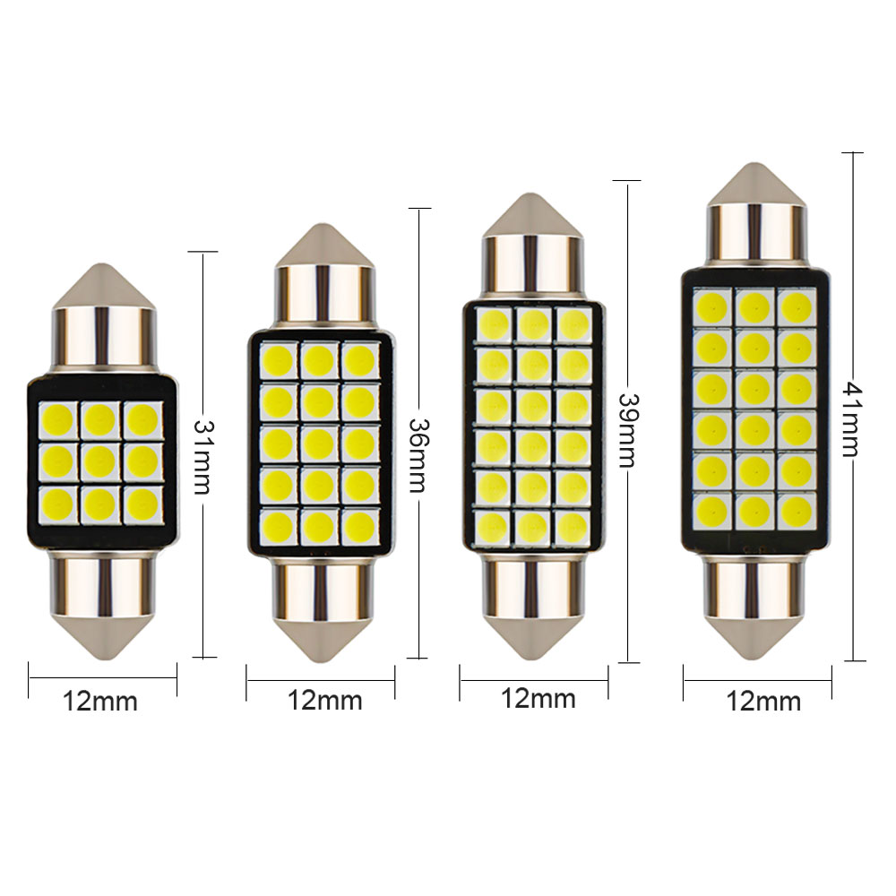 Image 4 - 1PCS Car Festoon Light C5W 31/36/39/41MM 3030 SMD Canbus Error Free Interior Reading Light Dome Bulbs Auto Plate Lamp white 12V-in Signal Lamp from Automobiles & Motorcycles
