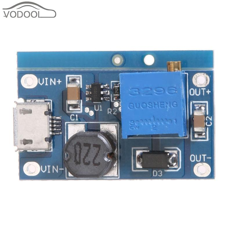 DC-DC 2V-24V Voltage to 5-26V 2A Max Step Up Module Booster Converter Power Supply Module with Work Indicator wholesale 1pcs dc dc step up converter boost 2a power supply module in 2v 24v to out 5v 28v adjustable regulator board dropship