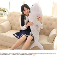 New 1pcs 100cm Big Size Shark Plush Toy The Cute Simulation Shark Soft Suffed Animals Doll Pillow Kids Baby toy Christmas Gifts