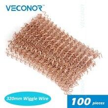 100 шт. вмятин вытягивающий волнистые провода для точечной сварочной панели вытягивающий провод для точечной сварки Расходные материалы 320 мм длиной