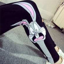 plus size legging women summer style 2017  feminina Cartoon leggings thin outer wear cute sweet stretch pants female A0699