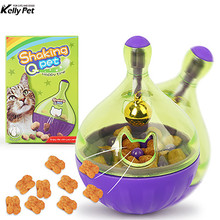 Cat Feeders Food Ball Pet Interactive Toy Tumbler Egg Smarter Playing Toys Treat Shaking for Dogs Increases