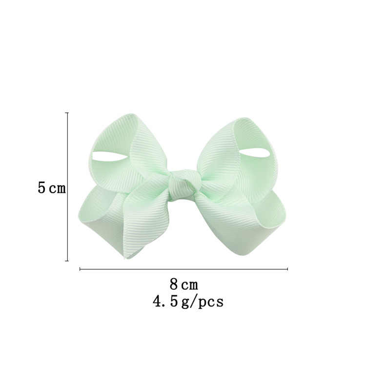 ขนาดเล็กผม Bows กับคลิปผมสำหรับเด็กผู้หญิง Mini Boutique Plain โบว์ริบบิ้น Bows Hairpin อุปกรณ์เสริมผม Ribbon Bows