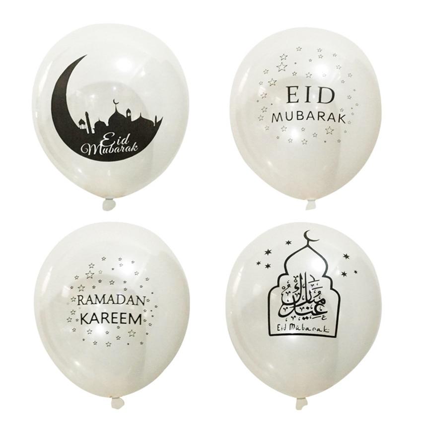 10Pcs Ramadan Kareem Balloons Eid Al Fitr Ramadan Supplies Eid Mubarak Balloons