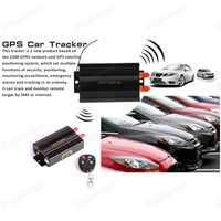 TK103B GPS SMS GPRS Tracker Vehicle Real Time Alarm Anti theft Locator Tracking Device With Remote Control Antenna Mic Relay