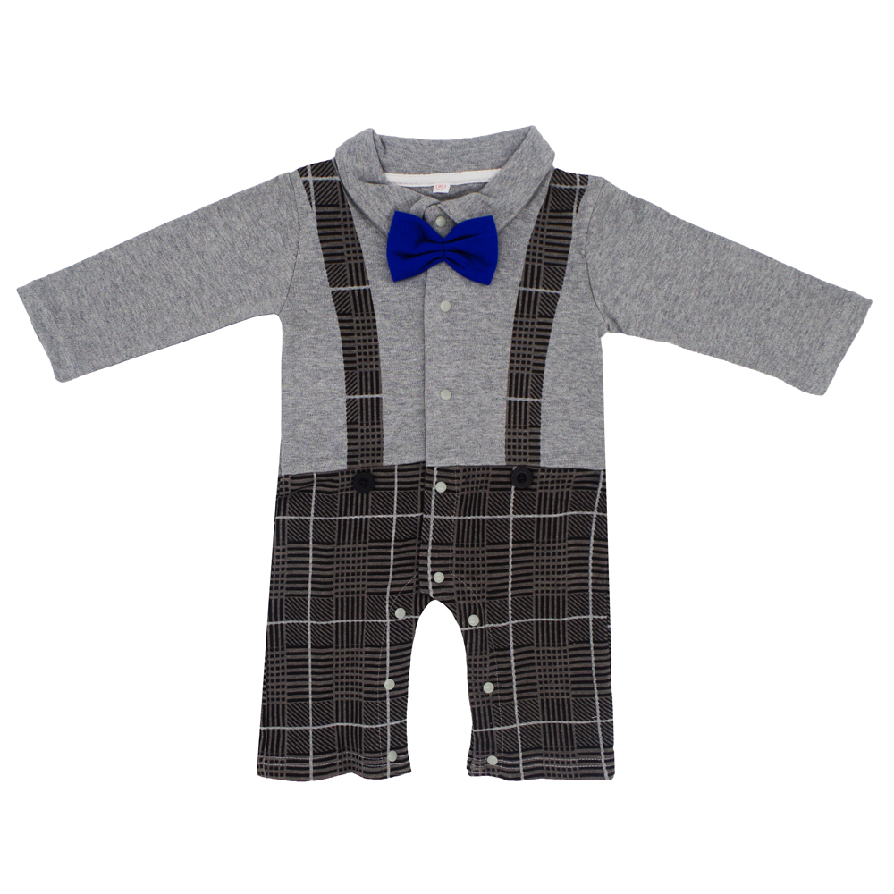 2017 Baby Autumn Winter Overalls Warm Clothing kids Newborn Boy Girl   Romper   Clothes Long Sleeve Creative Bow Tie Infant Jumpsuit
