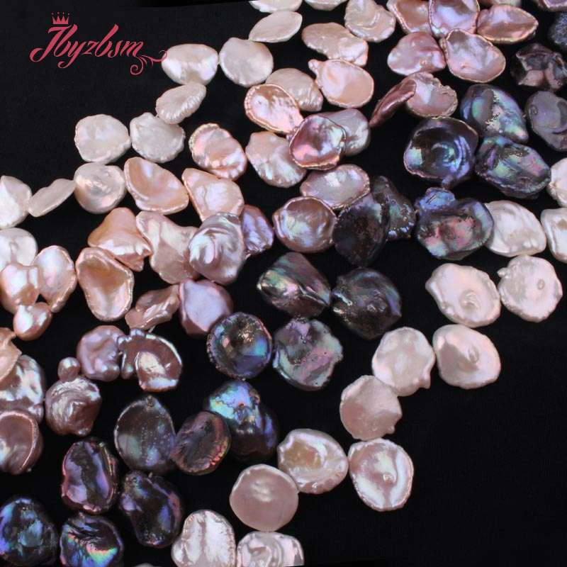 цена 14-18mm Baroque Cultured Freshwater Pearl Natural Stone Beads For DIY Necklace Bracelet Earring Jewelry Making 15