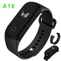 "Waterproof IP67 Sports Watch A16 Heart Rate Wristbands 0.42""OLED Smart Bracelet For ios Android call ID Reminder 30days Standby"