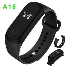 Водонепроницаемый IP67 Спортивные Часы A16 Сердечного Ритма Браслеты 0.42 «OLED Умный Браслет Для ios Android ИДЕНТИФИКАТОР вызова Напоминание 30 дней В Режиме Ожидания