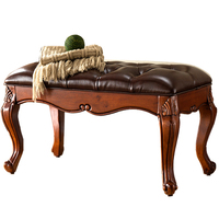 Обувь из цельного дерева, обувь в европейском стиле, стул для гостиной, диван, скамья, тканевый стул для кровати