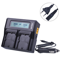LP E6 LPE6 Ultra Fast LCD Dual Battery Charger for Canon LPE6 LP E6 LP E6N DSLR EOS 5D Mark II III 60D 5D 7D 6D 70D Battery