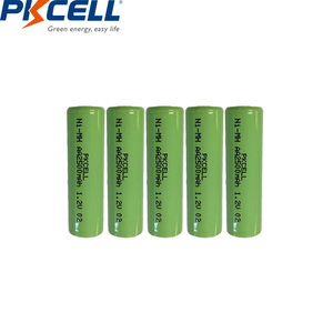 Image 3 - 12個ニッケル水素単三充電式バッテリー1.2v 2500mah indurstryパックフラットトップ、非pcm、