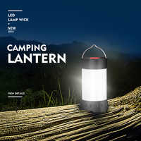 Magnetic Portable White Red Camping Lantern 5 Level Brightness Hanging Tent usb rechargeable Emergency Flashlight+18650 Battery